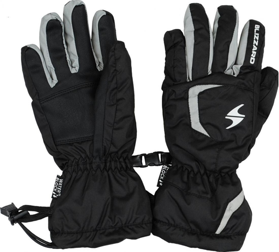 Obrázek z lyžařské rukavice BLIZZARD Reflex junior ski gloves, black/silver