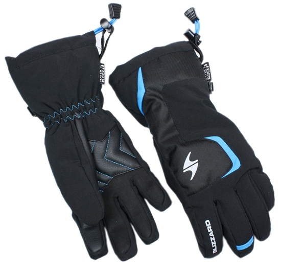 Obrázek z lyžařské rukavice BLIZZARD Reflex junior ski gloves, black/blue