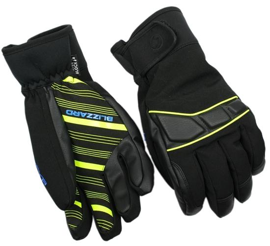 Obrázek z lyžařské rukavice BLIZZARD Profi ski gloves, black/neon yellow/blue, AKCE
