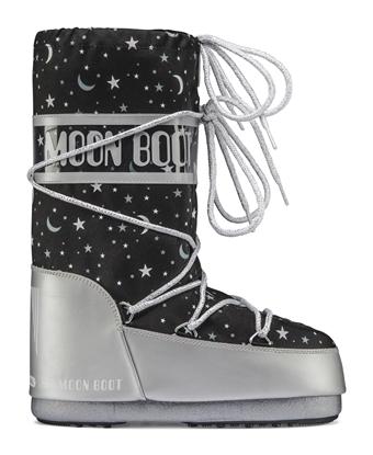 Obrázek boty MOON BOOT JR GIRL UNIVERSE, 001 silver/black