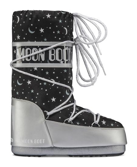Obrázek z boty MOON BOOT JR GIRL UNIVERSE, 001 silver/black