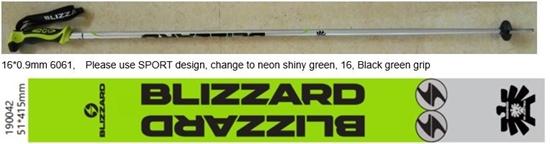 Obrázek z lyžařské hůlky BLIZZARD Allmountain ski poles, neon green shiny/black/silver