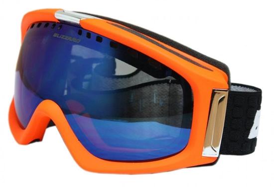 Obrázek z lyžařské brýle BLIZZARD BLIZ Ski Gog. 933 MDAVZS, neon orange matt, amber2, blue mirror
