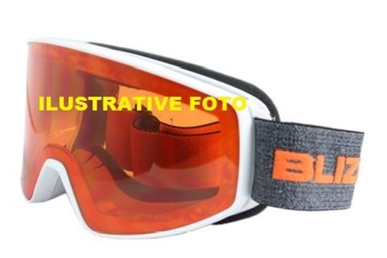 Obrázek z lyžařské brýle BLIZZARD BLIZ Ski Gog. 931 MDAZWO, black matt, orange2, red REVO SONAR