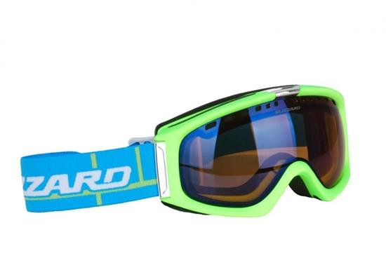 Obrázek z lyžařské brýle BLIZZARD BLIZ Ski Gog. 933 MDAVZS, neon green matt, amber2, blue mirror