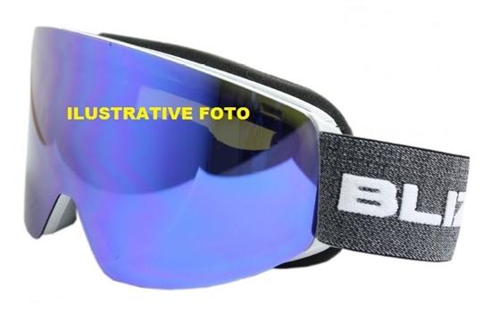 Obrázek z lyžařské brýle BLIZZARD BLIZ Ski Gog. 932 MDAZWO, black , orange2, red REVO SONAR