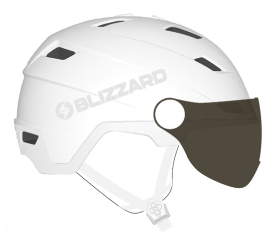 Obrázek z helma BLIZZARD Viva Double Visor ski helmet, white matt, smoke lens, mirror