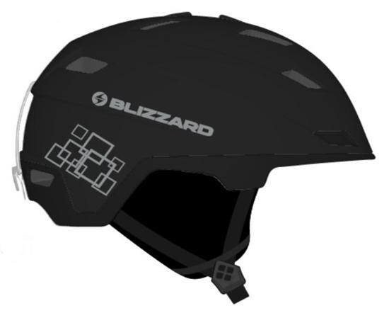 Obrázek z helma BLIZZARD Double ski helmet, black matt/gun metal/silver squares