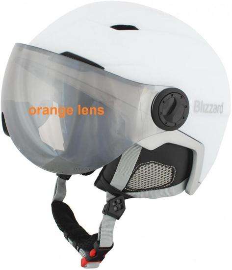 Obrázek z helma BLIZZARD Viva Double Visor ski helmet, white matt/silver, orange lens, mirror