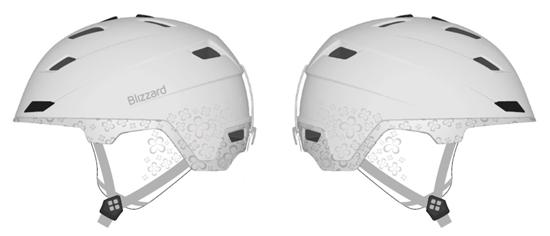 Obrázek z helma BLIZZARD Viva Double ski helmet, white matt/transp.flowers