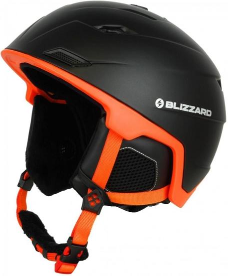 Obrázek z helma BLIZZARD Double ski helmet, black matt/neon orange, big logo