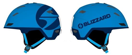 Obrázek z helma BLIZZARD Double ski helmet, blue matt/dark blue, big logo