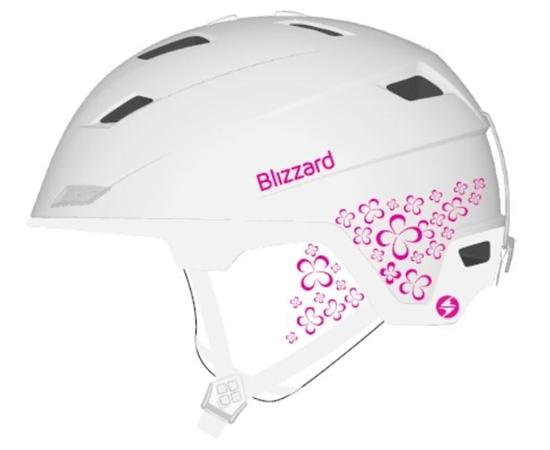Obrázek z helma BLIZZARD Viva Double ski helmet, white matt/magenta flowers