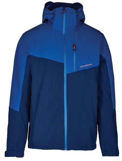Obrázek z lyžařská bunda BLIZZARD Mens Ski Jacket Cervinia, dark blue/petroleum blue