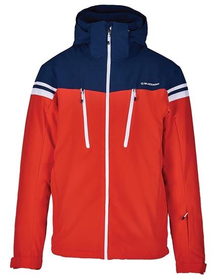 Obrázek z lyžařská bunda BLIZZARD Mens Ski Jacket Civetta, red/dark blue/white