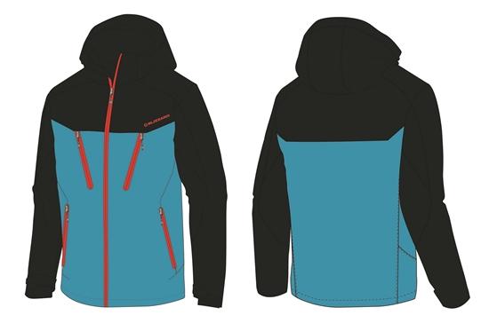 Obrázek z lyžařská bunda BLIZZARD Mens Ski Jacket Stelvio, bright blue/dark blue/red