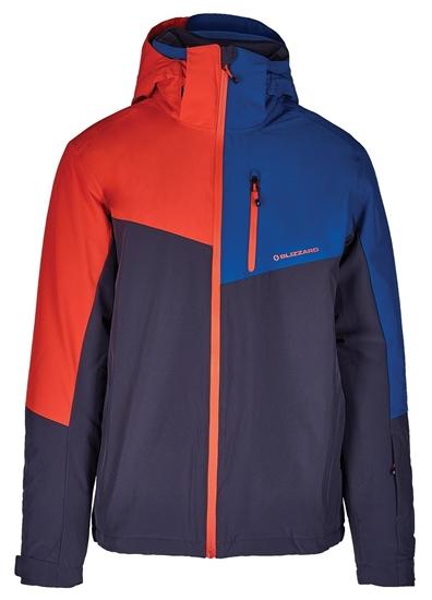 Obrázek z lyžařská bunda BLIZZARD Mens Ski Jacket Cervinia, grey/petroleum blue/red