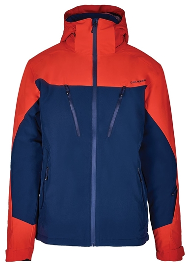 Obrázek z lyžařská bunda BLIZZARD Mens Ski Jacket Stelvio, dark blue/red