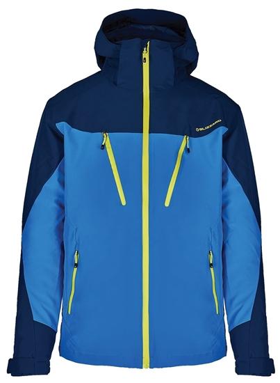 Obrázek z lyžařská bunda BLIZZARD Mens Ski Jacket Stelvio, bright blue/dark blue/neon green