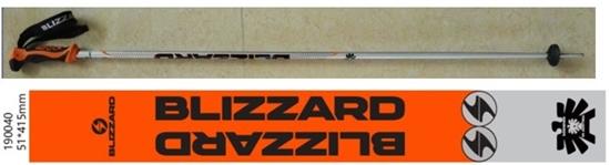 Obrázek z lyžařské hůlky BLIZZARD Allmountain ski poles, neon orange shiny/black/silver