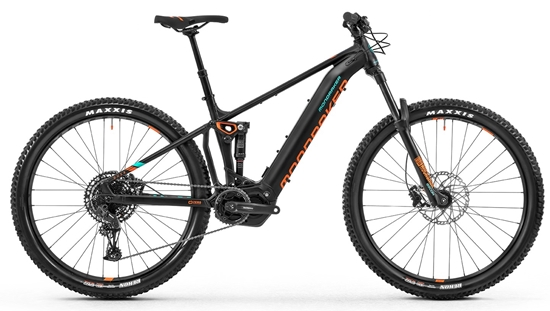 Obrázek z horské kolo MONDRAKER Dusk R 29, black/fox orange/light green, 2020