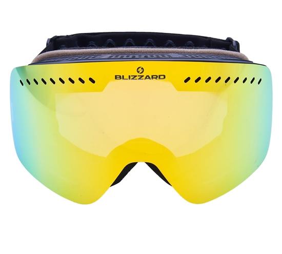 Obrázek z lyžařské brýle BLIZZARD Ski Gog. 985 MDAVZO, black matt, smoke2, yellow revo