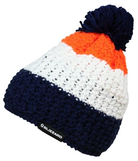 Obrázek z čepice BLIZZARD Tricolor,blue/white/orange