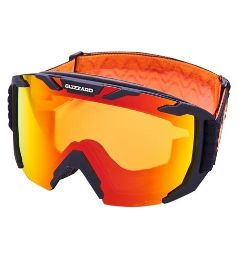 Obrázek z lyžařské brýle BLIZZARD BLIZ Ski Gog. 925 MDAZWO, black matt, orange2, red REVO SONAR