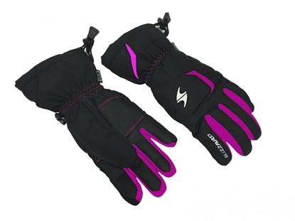 Obrázek lyžařské rukavice BLIZZARD Reflex junior ski gloves, black/pink